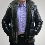 Tora&Tora Куртка кожаная с мехом енота