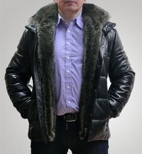 Tora&Tora Куртка кожаная с мехом енота 61800 руб